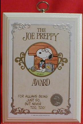 The Joe Preppy Award - for always being just so but never too too!