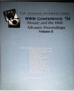 second world wide web conference proceedings (Chicago, 1994)