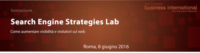 search engine strategies lab - corso di formazione sui motori di ricerca a roma