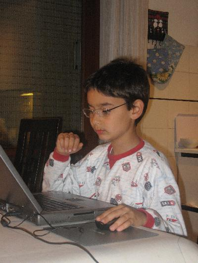 This is a snapshot of my son Thomas, he's 9 and he wanted to start his own blog - how could I say no !