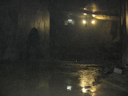 in galleria, nella cava