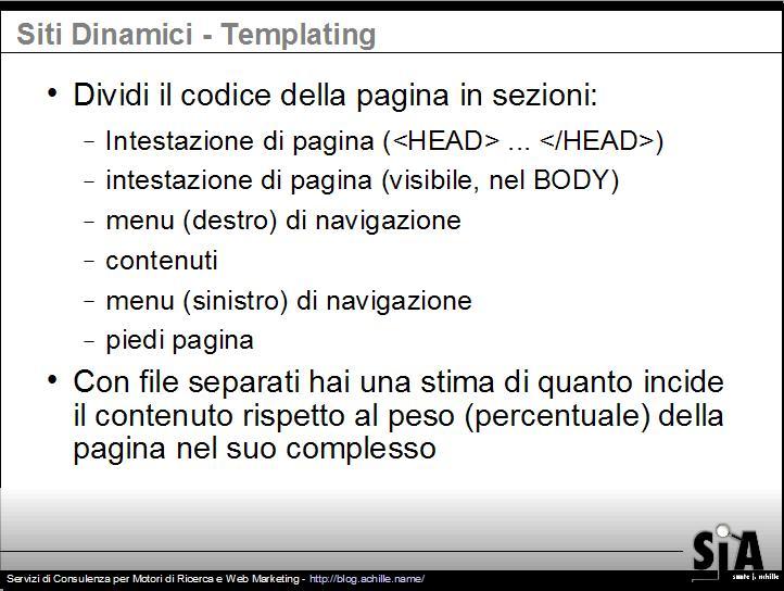 Presentazione sul design amichevole per motori di ricerca: come stabilire se un template sta causando il problema di contenuti duplicati