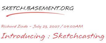 Sketchcasting - una nuovo modo di fare blogging ??