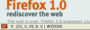ColorZilla - per determinare il codice di un color dal tuo browser firefox