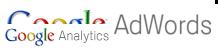 Google Logo di ADWORDS e delle Google Analytics