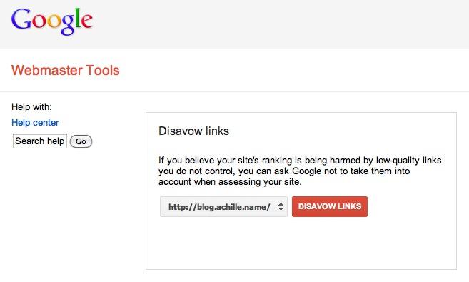 Google Disavow per i LInk da Webmaster Tools