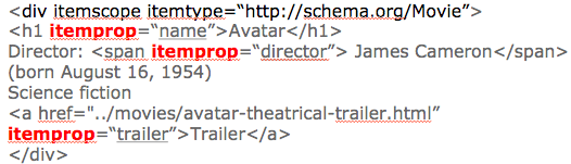 uese of itemprop trailer in schema.org