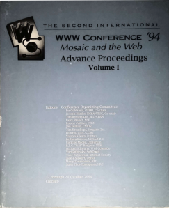 2nd world wide web conference proceedings, chicago 1994