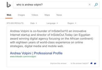 Bing Answers, utilizza il motore Cortana