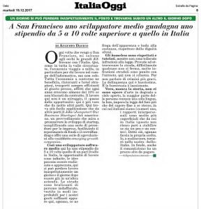 Articolo Italia Oggi del 19.12.2017