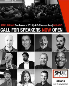 SMXL 2018, Call for Speakers