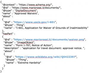 JSON-LD file, an example