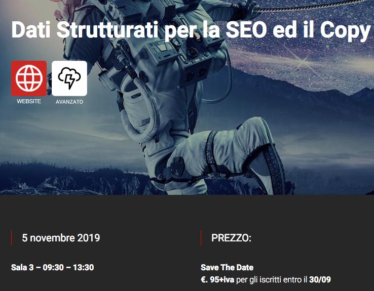 Workshop SEO su Dati Strutturati (Structured Data for SEO)