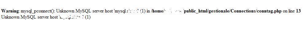 SQL error